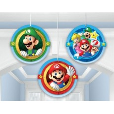 Super Mario Honeycomb Hanging Decorations