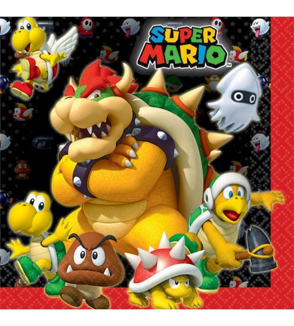 Super Mario Party Supplies - Lunch Napkins