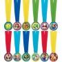 Super Mario Mini Medals Awards Pack of 12