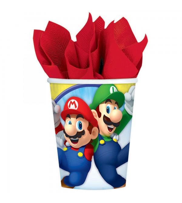 Super Mario Paper Cups 266ml Pack of 8