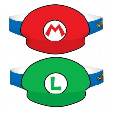 Super Mario Paper Party Hats