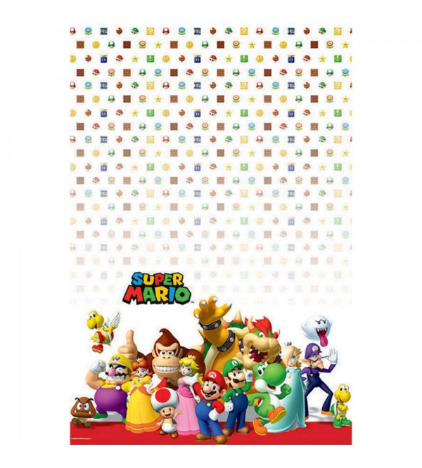 Super Mario Party Decorations - Plastic Table Cover