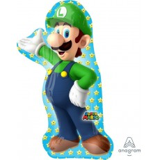 Super Mario SuperShape Luigi Shaped Balloon