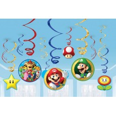 Super Mario Swirl Value Pack Hanging Decorations