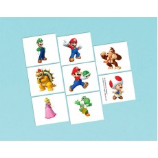 Super Mario Party Supplies - Super Mario Tattoo Favours