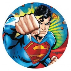 Round Superman Dinner Plates 23cm Pack of 8
