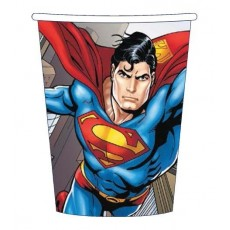 Superman Paper Cups 266ml Pack of 8