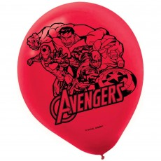 Teardrop Assorted Colours Avengers Epic Latex Balloons 30cm Pack of 6