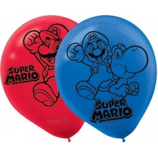 Super Mario Blue & Red  Latex Balloons
