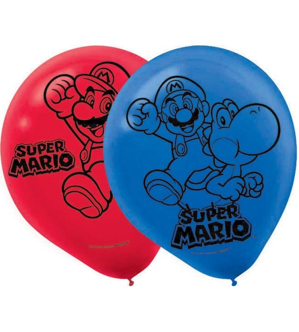 Super Mario Party Decorations - Latex Balloons