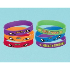 Teenage Mutant Ninja Turtles Rubber Bracelet Favours Pack of 4