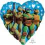Heart Teenage Mutant Ninja Turtles Standard HX Love Foil Balloon 45cm