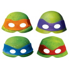Teenage Mutant Ninja Turtles Paper Party Masks Pack of 8