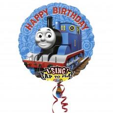 Round Thomas & Friends Jumbo XL Sing-A-Tune Singing Balloon 71cm