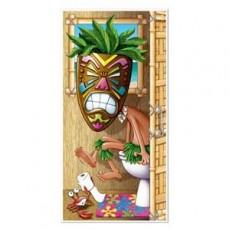 Hawaiian Tiki Man Luau Restroom Toilet Door Decoration 76cm x 152cm