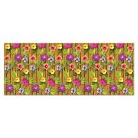 Tropical Fiesta Scene Setters 1.2m x 9.1m Luau Bamboo & Flowers Backdrop Insta-Theme