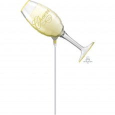Mini Champagne Glass New Year Cheers Shaped Balloon