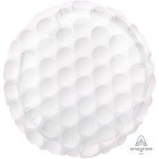 Round White Standard HX Golf Ball Foil Balloon 45cm