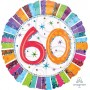 60th Birthday Foil Balloons 45cm Radiant Birthday