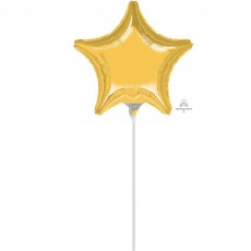 Star Gold Shaped Balloon 23cm