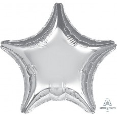 Star Silver Jumbo Shaped Balloon 81cm