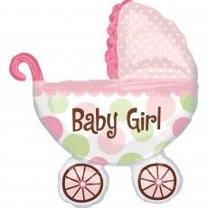Baby Shower - General Foil Balloons 71cm x 79cm Pink