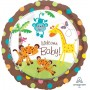 Round Fisher Price Hello Baby Standard XL Welcome Baby! Foil Balloon 45cm