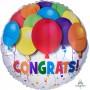 Round Congratulations Standard HX Bold Balloons Congrats! Foil Balloon 45cm