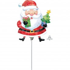 Christmas Mini Santa with Tree Shaped Balloon