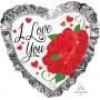 Heart SuperShape Ruffle I Love You Shaped Balloon 71cm x 71cm