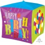 Cubez UltraShape Balloons Happy Birthday! Shaped Balloon 38cm x 38cm