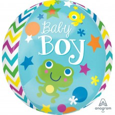 Baby Shower - General Shaped Balloons 38cm x 40cm Sweet Baby Boy Orbz