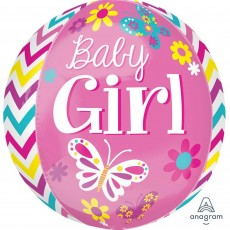 Baby Shower - General Shaped Balloons 38cm x 40cm Beautiful Baby Girl Orbz