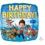 Paw Patrol Foil Balloons 45cm Happy Birthday! Square