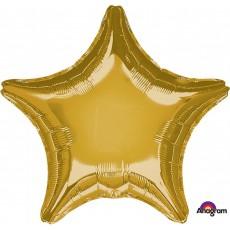 Star Metallic Gold Standard XL Shaped Balloon 45cm