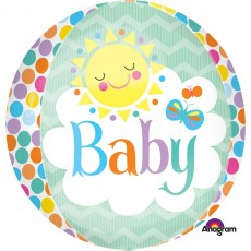 Baby Shower - General Shaped Balloons 38cm x 40cm Friendly Baby Orbz