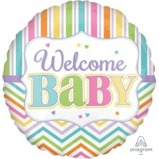 Baby Shower - General Foil Balloons 45cm Welcome Baby