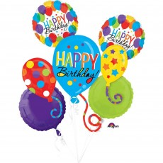 Balloon Bash Bouquet Foil Balloons Pack of 5