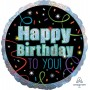 Happy Birthday Foil Balloons 45cm Brilliant Streamers Happy Birthday to You!