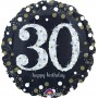 30th Birthday Foil Balloons 45cm Sparkling Holographic Foil