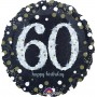 Round 60th Birthday Sparkling Celebration Standard Holographic Foil Balloon 45cm