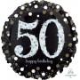 Round 50th Birthday Sparkling Jumbo Holographic Shaped Balloon 71cm