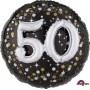 Round 50th Birthday Sparkling Holographic Multi-Balloon Foil Balloon 81cm