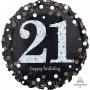 21st Birthday Foil Balloons 45cm Sparkling Holographic Foil