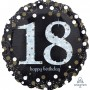 18th Birthday Foil Balloons 45cm Sparkling Holographic Foil