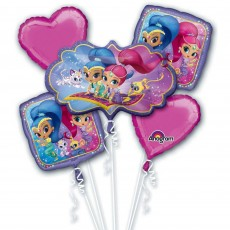 Shaped Shimmer & Shine Bouquet Foil Balloons Pack of 5