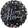 Happy Birthday Foil Balloons 45cm Black Celebration