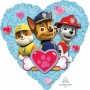Paw Patrol Foil Balloons 45cm Group Love Heart