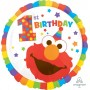 Round Elmo Turns One Sesame Street 1st Birthday Standard HX 1st Birthday Foil Balloon 45cm