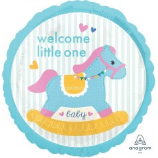 Baby Shower - General Foil Balloons 45cm Rocking Horse Welcome Little One